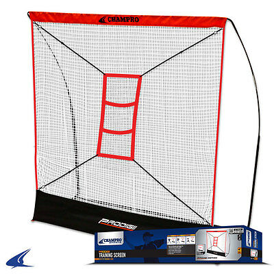 Painstaking Champro Sports® Prodigii Screen W/ Tz3 Training Zone For Drills Batting Cages & Netting