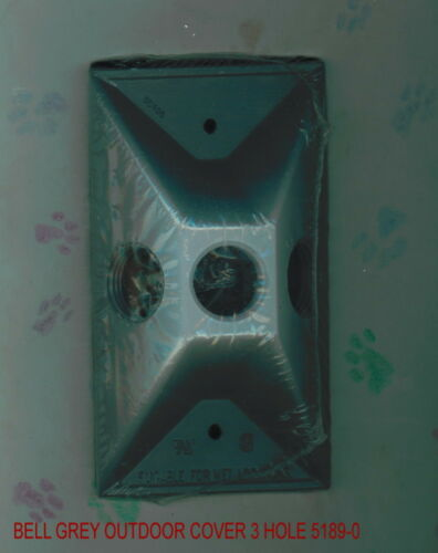 GREY  5189-0 NEW IN PACKAGE  3 HOLE BELL LAMP COVER OUTDOOR