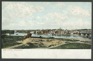 Troy-NY-c-1905-06-Postcard-RIVER-PANORAMA-From-Watervliet-Congress-St-Bridge