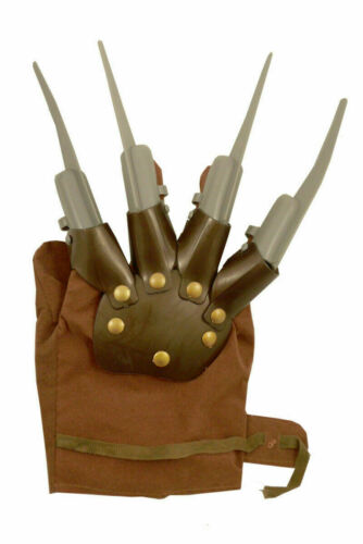 Freddy Spiked Hand Claw Glove Nightmare Halloween Fancy Dress Kruger Scary Prop