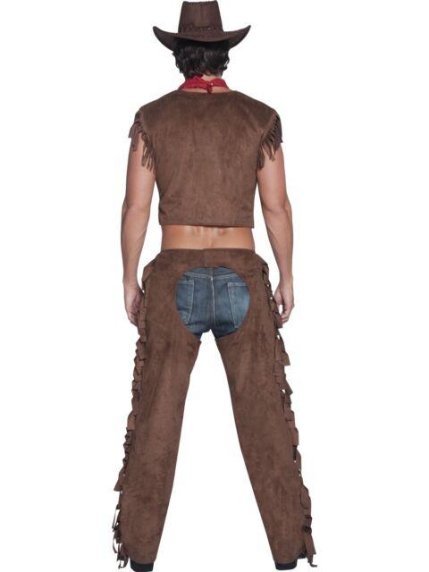 Fever Male Ride Em High Cowboy Adult Mens Smiffys Fancy Dress Costume