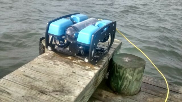 Remote Underwater Camera, Remotely Operated Vehicle ROV,  Blue Robotics BlueROV2