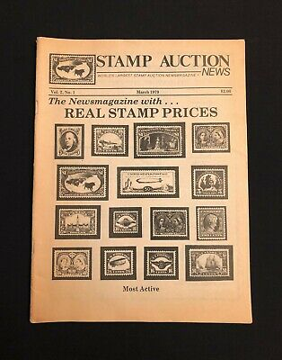 Vintage Stamp Auction News Catalogue March 1979 Newsmagazine Stamp Pricing Ebay