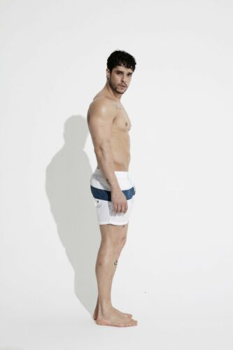 Men/'s Bold Striped Board shorts Beachwear Gay Hot GYM short