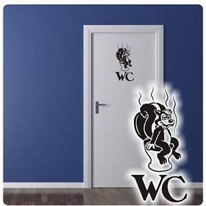 Tür Aufkleber WC Klo Stinktier Wandtattoo Sticker Badezimmer Bad ...