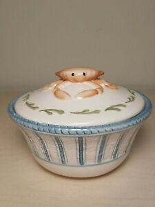 Fitz And Floyd Seaboard Collection Blue And White Chowder Bowl ...