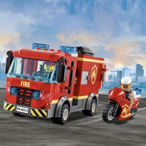 New Release for 2019! 60214 LEGO CITY Burger Bar Fire Rescue 327 Pieces Age 5