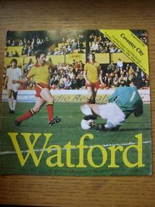 02121980 Watford v Coventry City Football League Cup No Apparent Faults - Birmingham, United Kingdom - Returns accepted within 30 days after the item is delivered, if goods not as described. Buyer assumes responibilty for return proof of postage and costs. Most purchases from business sellers are protected by the Consumer Contr - Birmingham, United Kingdom