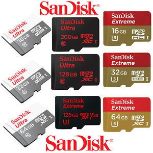GENUINE-128GB-64GB-32GB-16GB-SanDisk-Ultra-Micro-SD-SDHC-SDXC-Class10-CARD