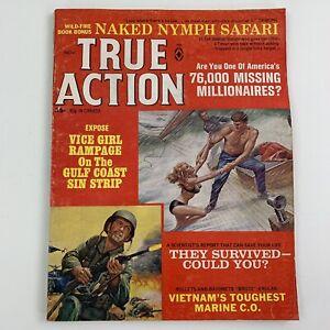 True Action Nov 1967 Men's Pulp Magazine Naked Nymph Safari