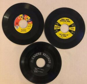 3-Christmas-45rpm-Records-7-Songs-White-Christmas-More