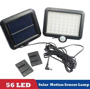 56-LED-Solaire-Detecteur-de-Mouvement-Lumiere-Lampe-de-Jardin-Exterieur-Lampe