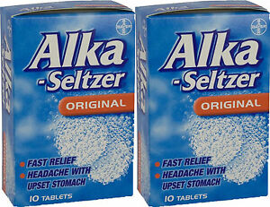 Alka-Seltzer-Original-10-Tablets-x2-TWIN-PACK-Pain-Relief-for-Migraine-Toothache