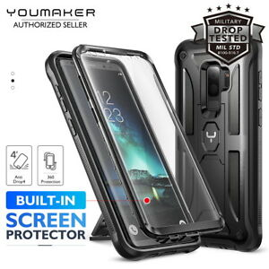 the best attitude 750fd 480d5 Details about YOUMAKER® Samsung Galaxy S9 S9 Plus HEAVY DUTY Shockproof  KickStand Case Cover