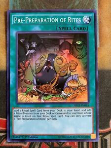 Yugioh: Pre-Preparation Of Rites Super Rare Near Mint 1st Ed SHVI-EN065
