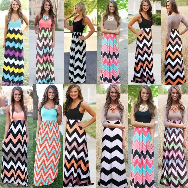 New Sexy Women Dress Summer Boho Long Maxi Evening Party Beach Clothes Sundress