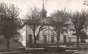 Monmouth-Iowa-High-School-Barns-1907-Real-Photo-Postcard-RPPC