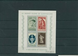 Luxembourg-Vintage-Yearset-1946-Mi-Bloc-5-Neuf-MNH-Plus-Sh-Boutique