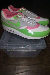 Details about Nike Air Max 1 'Electric GreenPink' 308866 100 US Size 10 Released 2010