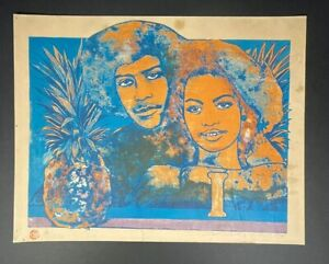 Serigraph by Raul Martinez, Untitled. 1978. Original signed by the artist