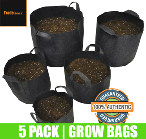 Fabric-Plant-Pots-Grow-Bags-Planter-Felt-Air-Herb-Fruit-Trees-4-12-20-30-Litre