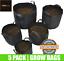 Fabric-Plant-Pots-Grow-Bags-Planter-Felt-Air-Herb-Fruit-Trees-4-12-20-30-Litre thumbnail 1