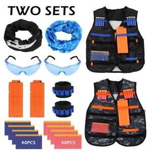 Enfant-Veste-Gilet-Tactique-pour-Nerf-Guns-Kit-Kids-Camouflage-costume-jeu-2X