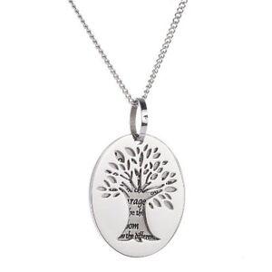 Tree of life pendant serenity prayer necklace serenity pendant ebay image is loading tree of life pendant serenity prayer necklace serenity aloadofball Choice Image