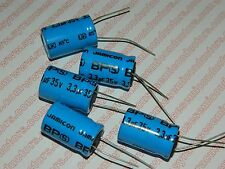 3.3uf 35 Volt Radial Bi Polar High Frequency Capacitor Lot of 5 Pieces