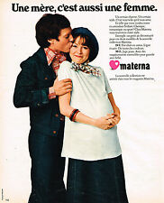 PUBLICITE ADVERTISING 015  1975  MATERNA  vetements de grossesse