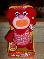 New 2010 Fisher-Price Red Sing-A-Ma-Jigs Orange Mouth Hair Sings Yankee Doodle