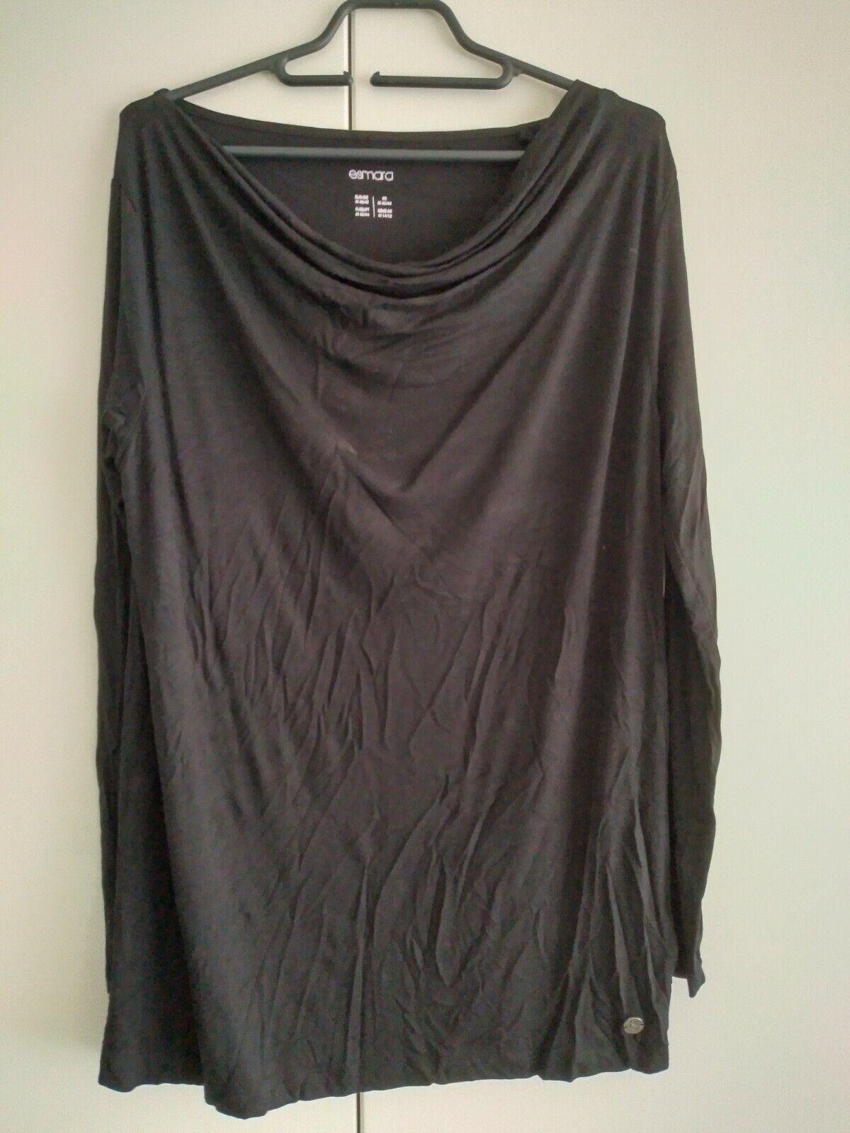 2 Shirts von Esmara schwarz Gr. 38 Neuwertig Wasserfall