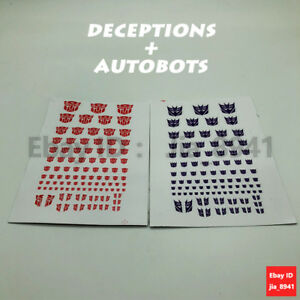 Symbol Sticker Decal for Custom COOL Transformers G1 Decepticons //Autobots 90