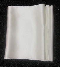 New! Mens White 100% Pure Silk Scarves, Tailor made in London!