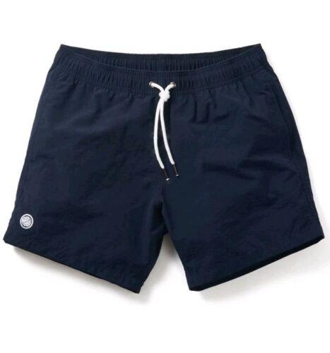 BNWT Pretty Green Navy Blue Logo Swim Shorts XXL RRP £45 S8GMU60098789