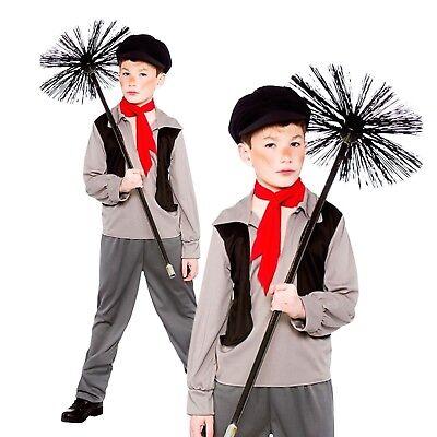 Hat Age 5-13 Boys VICTORIAN CHIMNEY SWEEP Fancy Dress Book Week Costume