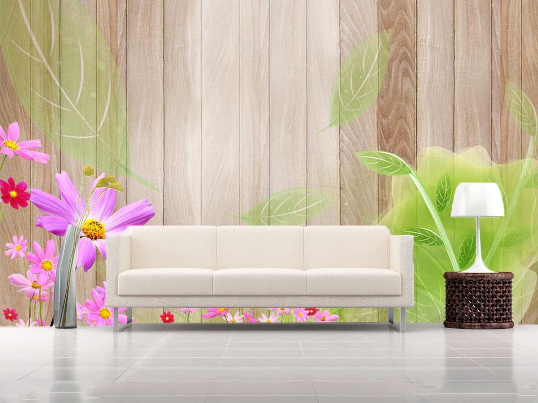 3D Holzdekorationen 366 Fototapeten Wandbild Fototapete BildTapete Familie