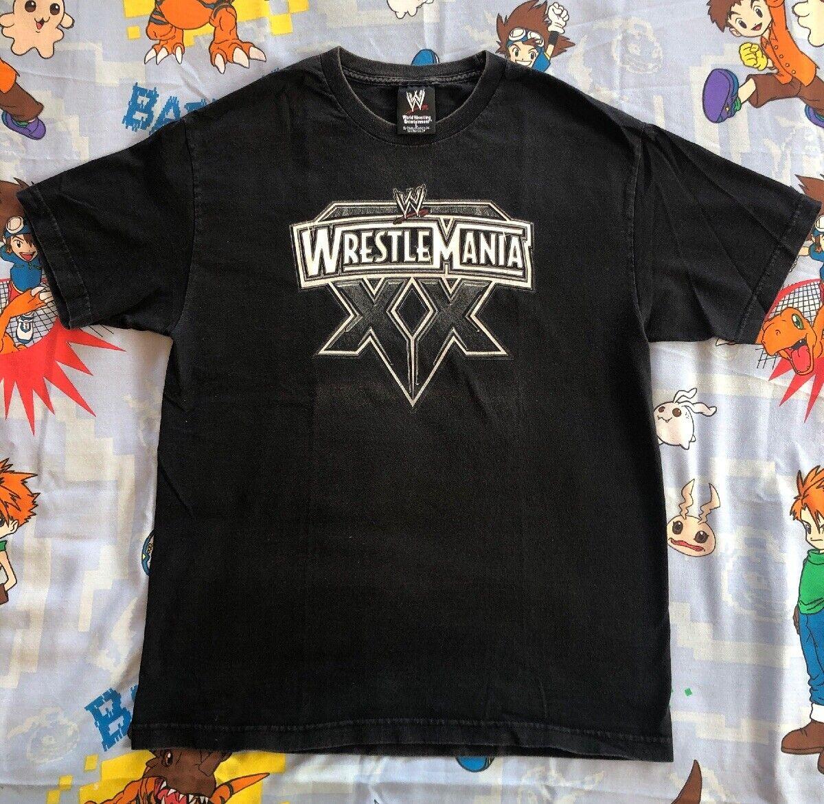 Wrestlemania XX 20 Benoit HHH wrestling VTG original large WWF WWE 2004 MSG