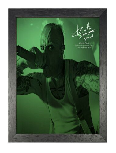 Keith Flint Tribute 6 English Vocalist Poster The Prodigy Music Photo Signed