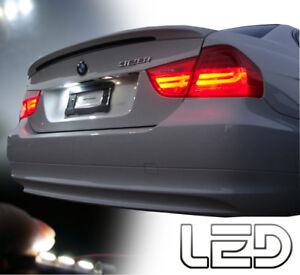 BMW-E90-E91-2-Ampoules-LED-Blanc-Plaque-immatriculation-anti-erreur-Canbus