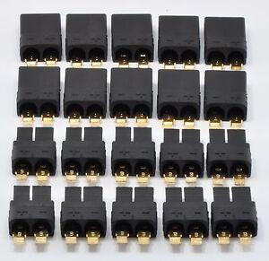 10-macho-hembra-conector-de-tipo-par-TRAXXAS-TRX-Tapones-Para-Lipo-NiMH-bateria