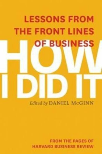 1 of 1 - How I Did It, Excellent Condition Book, Harvard Business Review, ISBN 9781625272
