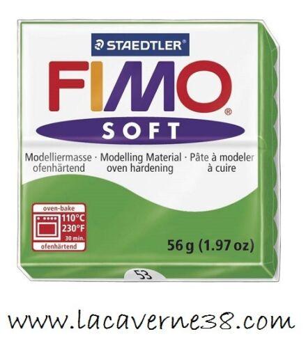 56 création bijoux perles 53 Pain de pâte polymère FIMO Soft vert 50
