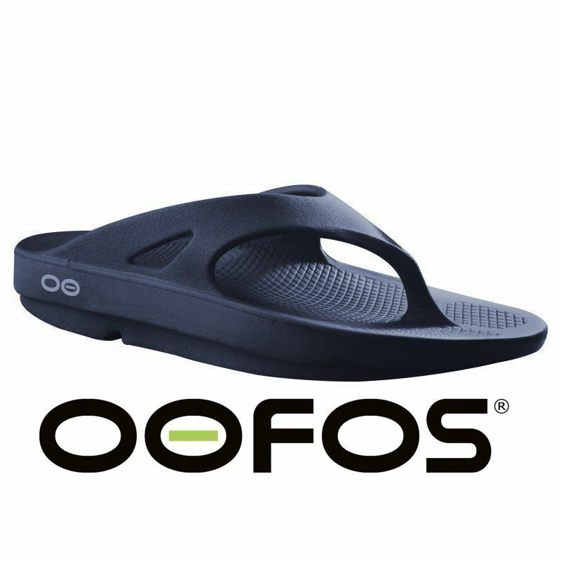 ????oofos Original Flip Flop Navy Impact Absorption Sandals Recovery New