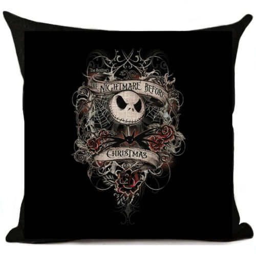 Unusual Nightmare Before Christmas Jack Skellington Cushion Cover Pillow Case