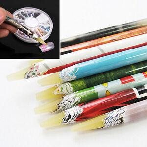 Beauty-Pick-Up-Pen-Wax-Resin-Rhinestones-Picker-Pencil-Nail-Art-Accessory-Long-E