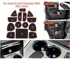 Non-Slip Interior Soft Rubber Door Panel Mats Cup Holder Pad For Jeep Cherokee