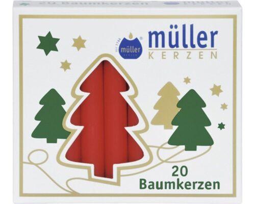 80 Baumkerzen  ADVENTSKERZEN  Rot    4x20er pack  KERZEN Tannenbaum Kerzen