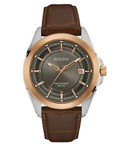 Bulova-Men-039-s-UHF-Precisionist-Quartz-Rose-Gold-Case-43mm-Wrist-Watch-98B267