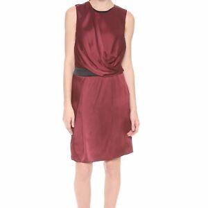 Red Nwt Satijnen Drape Lang Quantum Helmut Corsa crêpe Mouwloze Overlap jurk 80kNnOPwX